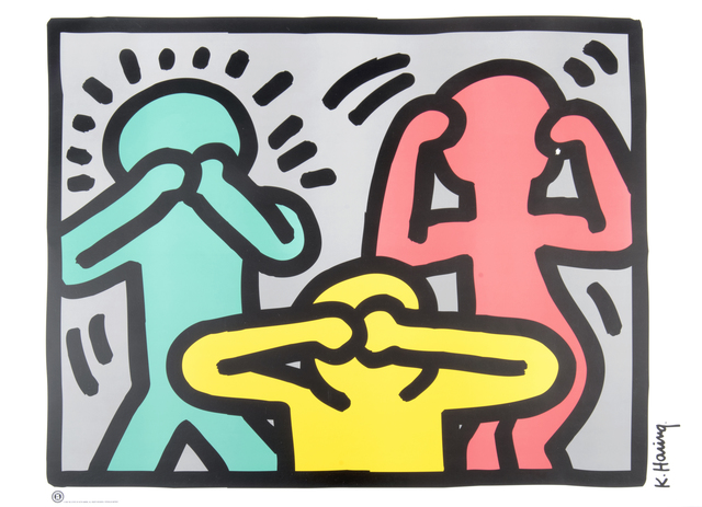 Keith Haring, 'See No Evil, Hear No Evil, Speak No Evil, Radiant Baby & Dog', Tate Ward Auctions