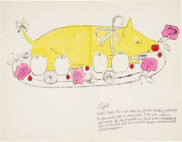 Andy Warhol, 'Piglet, from Wild Raspberries', 1959, Phillips