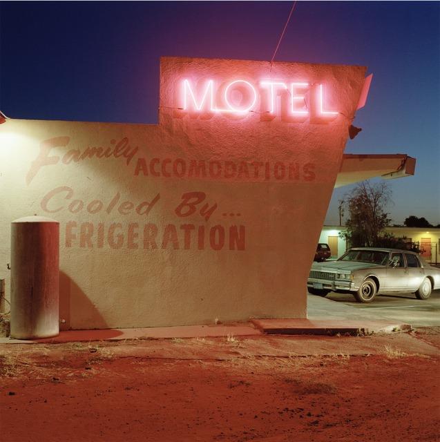 Jeff Brouws, 'Motel Drive, Fresno, California', 1991, Robert Klein Gallery