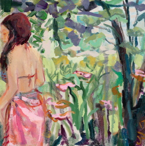 , 'Tessa in the Ferns,' 2018, parts gallery