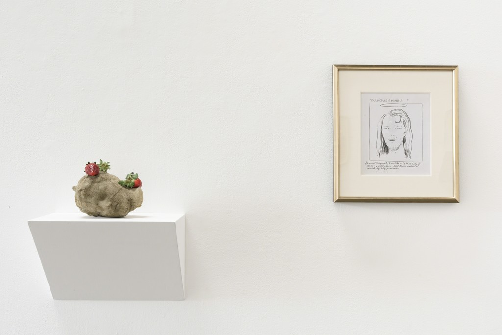 "Installation view: ""Beheaded"" (Matelli, Pettibon)"