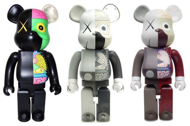 KAWS, 'KAWS DISSECTED COMPANION BE@RBRICK 1000% SET OF 3', 2009-2010, Marcel Katz Art