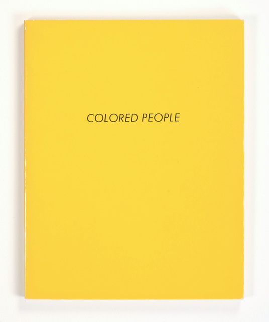 Ed Ruscha, 'COLORED PEOPLE', 1972, Benjamin Ogilvy Projects