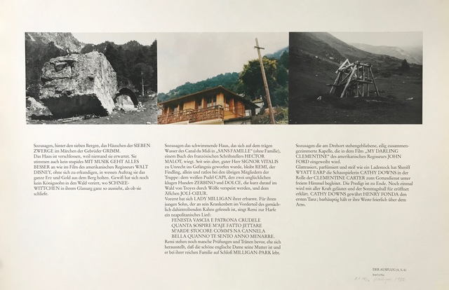 , 'DER AUSFLUG (4,5,6) / TOUR (4,5,6),' 1982, Brigitte March International Contemporary Art