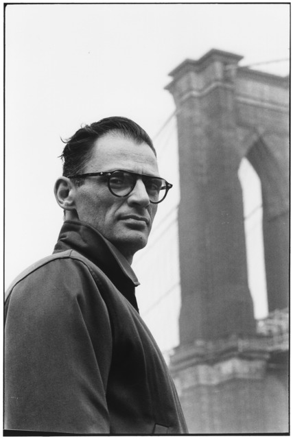 , 'Arthur Miller in Front of Brooklyn Bridge, New York,' 1954, Huxley-Parlour