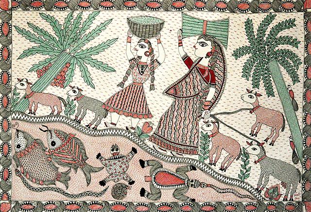 , 'The Indian Tribe - Madhubani - Indian Tribal & Traditional Art,' 2013, ICAC
