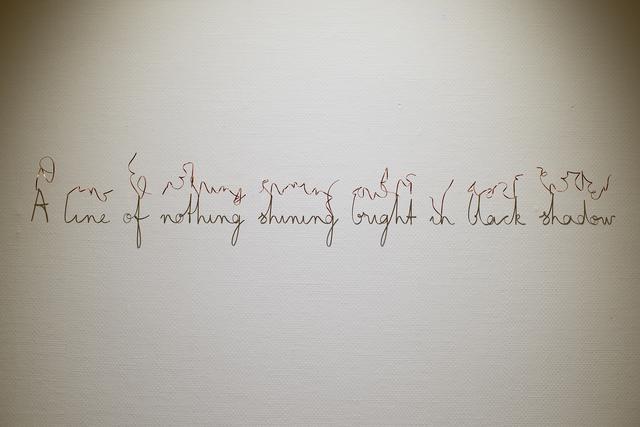 Fred Eerdekens, 'A line of nothing shining bright in black shadow', 2013, Bermel von Luxburg Gallery