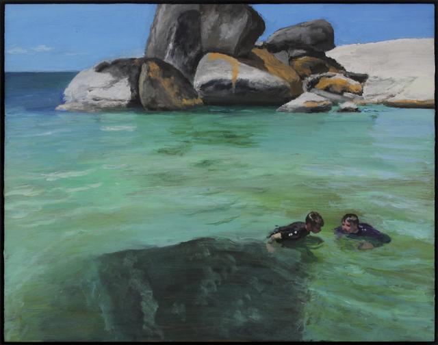 , 'Two teens near penguins  ,' 2018, 99 Loop Gallery