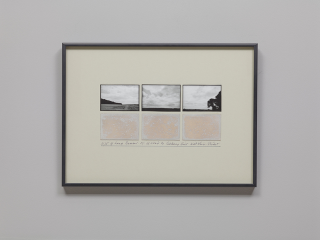 , 'NW of Long Barrow, N of Road to Silbury Hill, Wiltshire,' 1980-1981, Parafin