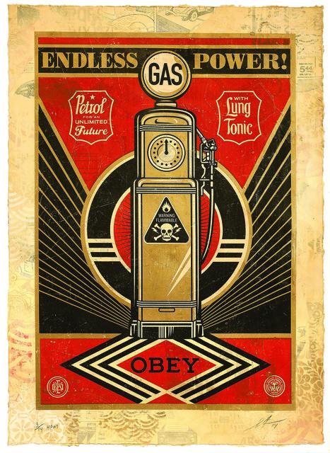 Shepard Fairey, 'Endless Power', 2014, Underdogs Gallery