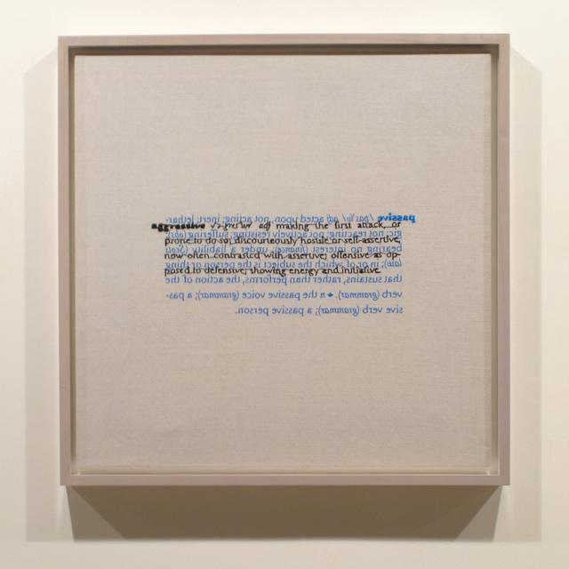 , 'Passive, Aggressive (verso),' 2015, Frith Street Gallery