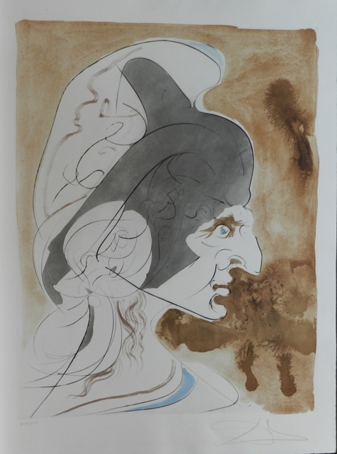 Salvador Dalí, 'Homage a Leonardo Condottiere', 1975, Print, Etching, Fine Art Acquisitions Dali