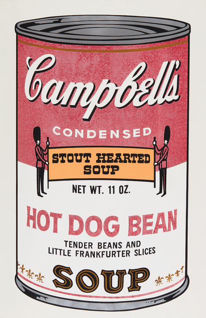 Andy Warhol, 'Hot Dog Bean, from Campbell's Soup II', 1969, Print, Screenprint in colors, on wove paper, with full margins, Phillips