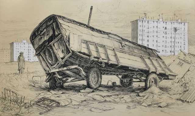 Jürg Kreienbühl, 'La roulotte bancale', 1977, Jean-Marie Oger