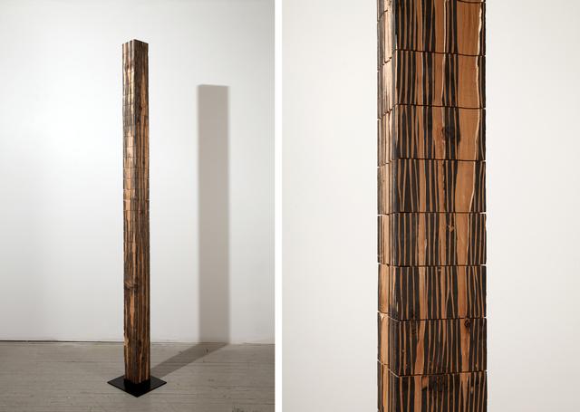 Fırat Erdim, 'Posts and Aggregate Topographies (12)', 2009-2012, Sculpture, Douglas fir post, block printing ink, Olson Larsen Gallery