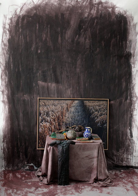 , 'Still Life with artifacts from Transylvania with the photography of a rye and a bronze crucifixion study,' 2015, Nasui Collection & Gallery