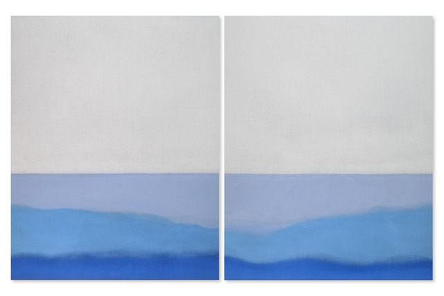 , 'Untitled (Blue Diptych),' 2014, Berry Campbell Gallery