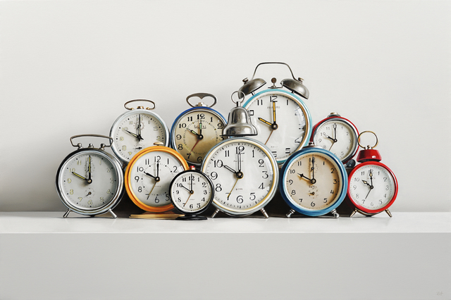 , 'Ten Clocks,' 2019, George Billis Gallery