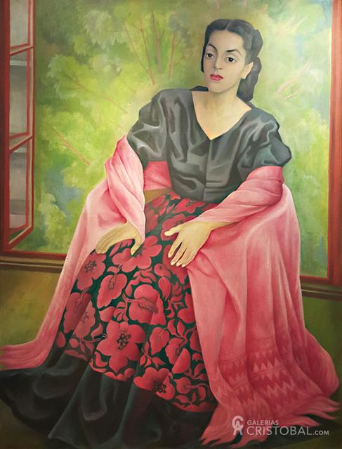 "Diego Rivera, '""Dama Oaxaqueña""', 1949, GALERÍAS A. CRISTOBAL"