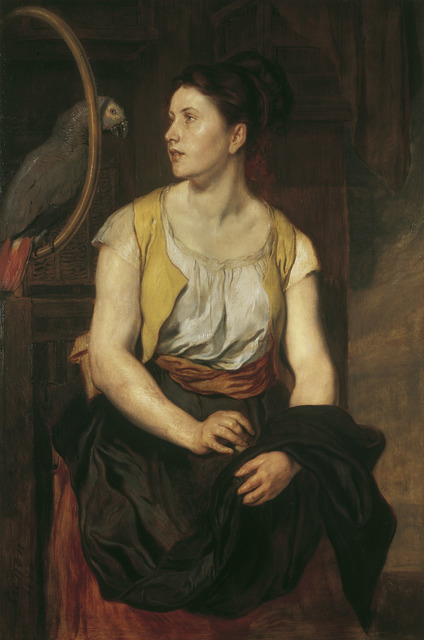 , 'Girl with Parrot,' 1876, The National Gallery, London
