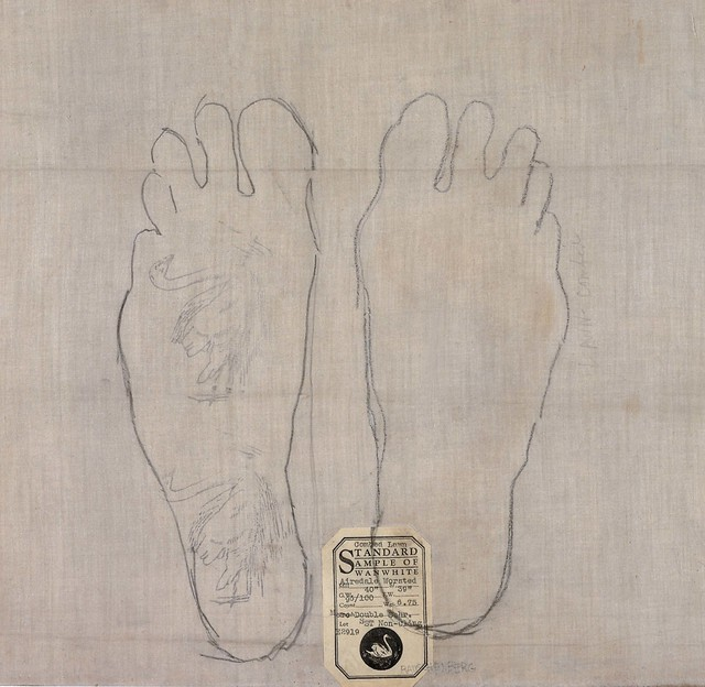 Robert Rauschenberg, 'Lawn Combed', 1954, Pencil on found fabric, Robert Rauschenberg Foundation