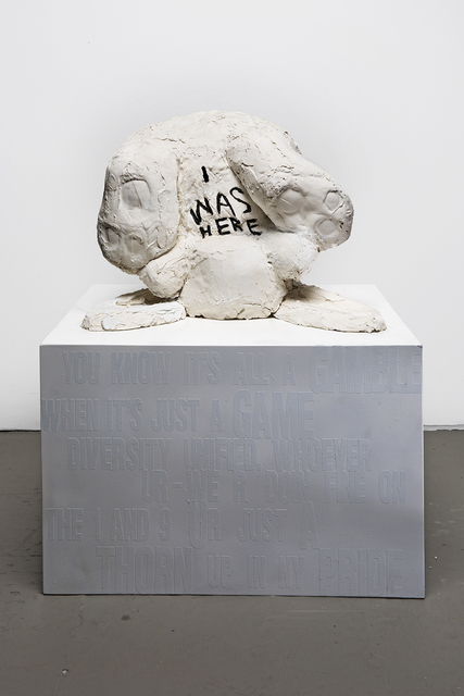 , 'Animal (Rabbit) Sculpture with message: 'I Was Here',' 2018, Ivy Brown Gallery