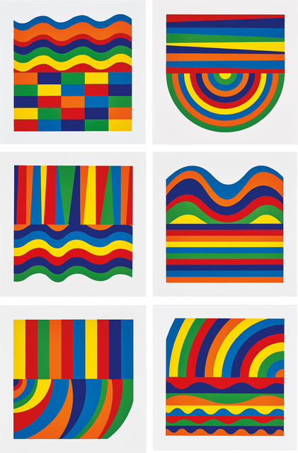 Sol LeWitt, 'Arcs and Bands in Color', 1999, Phillips