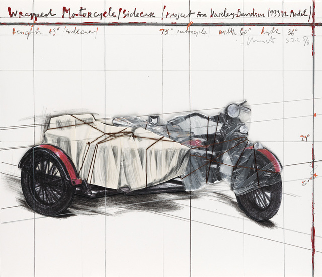 , 'Wrapped Motorcycle/Sidecar (Project for Harley-Davidson 1933 VL Model) AP,' 1997, Zane Bennett Contemporary Art
