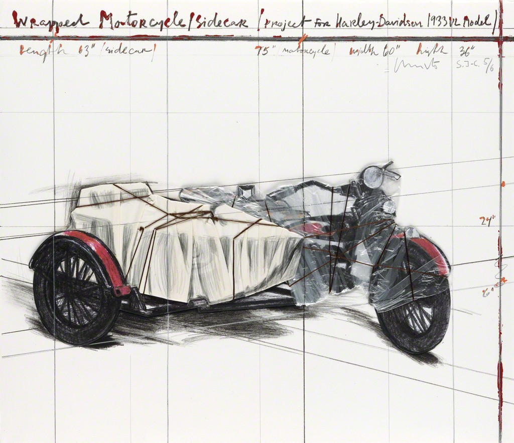 Christo | Wrapped Motorcycle/Sidecar (Project for Harley-Davidson ...