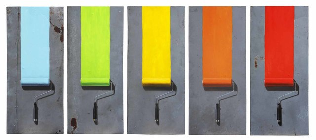 , 'Paint Roller Grid,' , Haley Fine Art