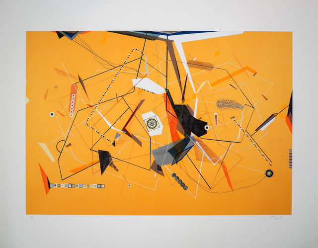 Dannielle Tegeder, 'Yellow Invisible Diagram Line Possibility with Escape Route', 1998, Print, Print, (digital), The Watermill Center Benefit Auction
