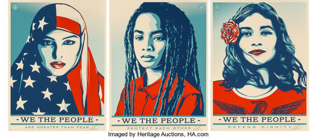 Shepard Fairey, 'We the People (3 works)', 2017, Heritage Auctions