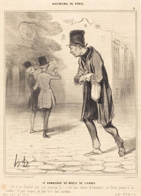Honoré Daumier, 'Le Ramasseur de bouts de cigares', 1841, National Gallery of Art, Washington, D.C.