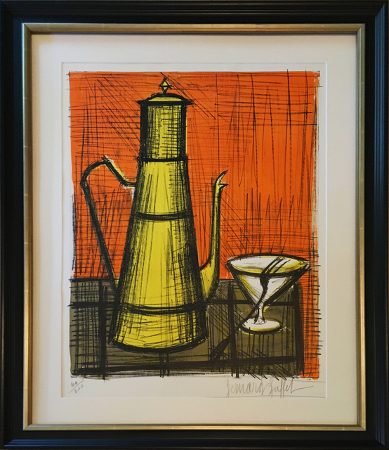 Strange Bernard Buffet Still Life With Coffee Pot 1955 Available For Sale Artsy Interior Design Ideas Helimdqseriescom