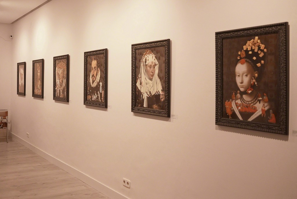 The series of portraits, printed on glossy photo paper