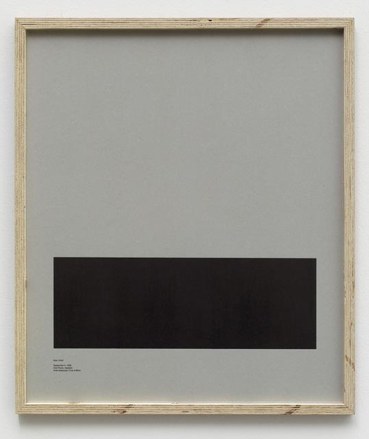 , 'Loop Holes (Ioan Ursot, September 5. 1989, Hall anstalten, Sweden, hole measures 17 x 29 cm) ,' 2014, Galleri Nicolai Wallner