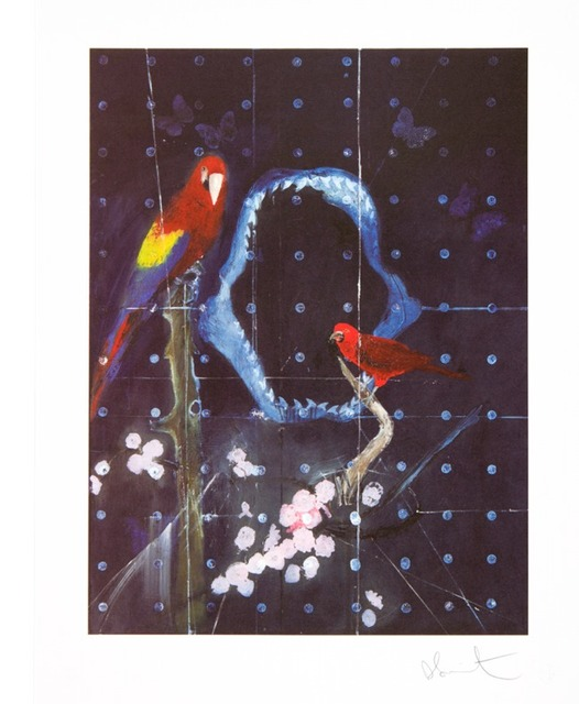, 'Red Bird and Parrot with Shark Jaw (small),' 2012, Other Criteria