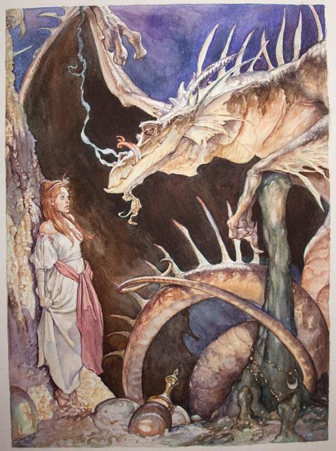 Iain McCaig, 'The Dragon and the Princess', 1992, IX Gallery