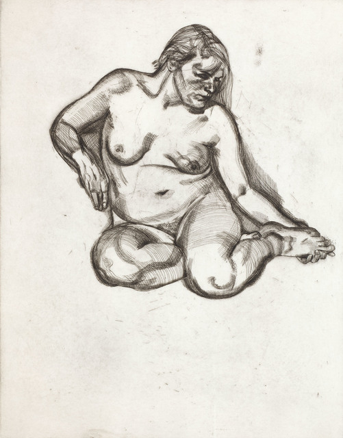 Lucian Freud, 'Girl Holding Her Foot', 1985, Print, Etching, Joanna Bryant & Julian Page