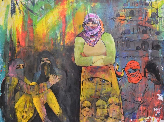 , 'Daesh Molested the Girls (Yezidi Girls),' 2015, Ronald Feldman Gallery