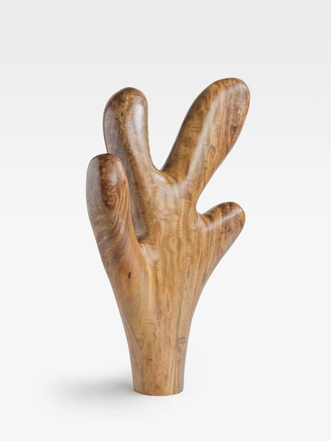 Claudia Comte, 'Fire Coral (four long fingers)', 2019, Sculpture, Almond wood, KÖNIG GALERIE