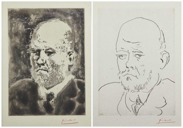 Pablo Picasso, 'Portrait de Vollard I & III, from: La Suite Vollard', 1937, Christie's