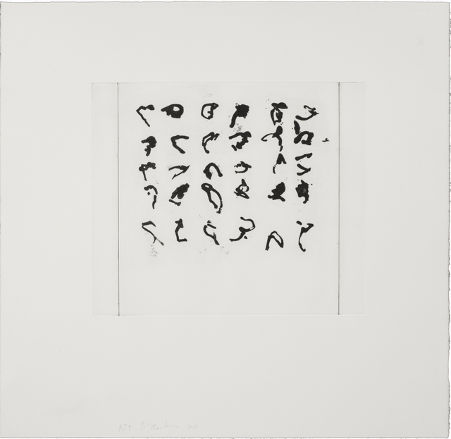 , 'First Etched Letter,' 2011, Guild Hall