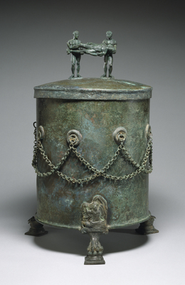'Cista Depicting a Dionysian Revel and Perseus with Medusa's Head', 4th-3rd century B.C., Walters Art Museum