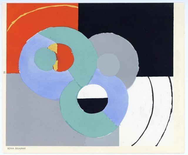 Sonia Delaunay, 'Témoignages pour l'art abstrait', 1952, Print, Colour pochoir on wove paper, artrepublic