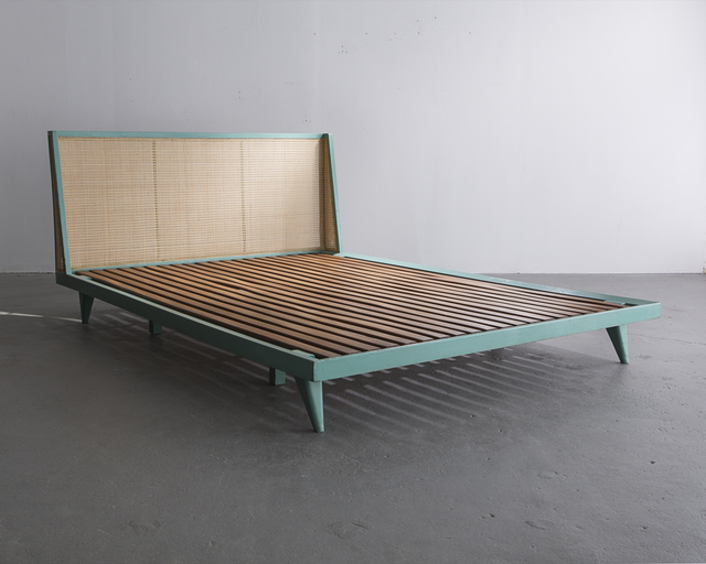 , 'Custom bed designed by Joaquim Tenreiro for a private commission in the Flamengo neighborhood of Rio de Janeiro,' ca. 1950, R & Company