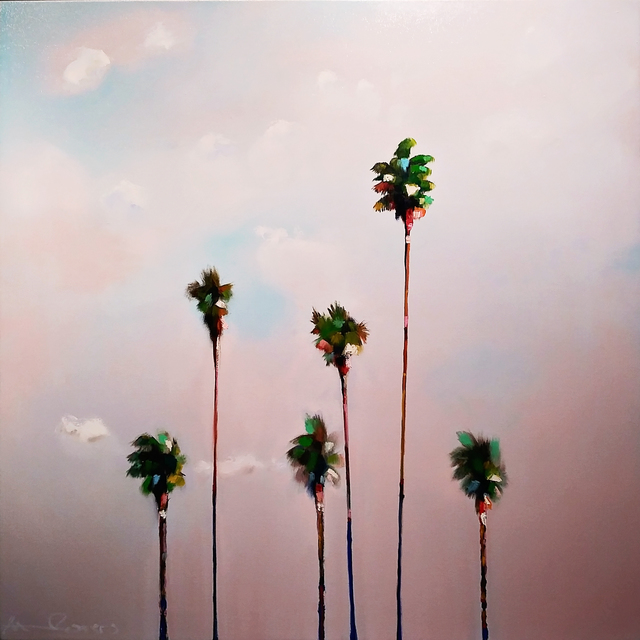 , '6 Fan Palms,' 2019, Caldwell Snyder Gallery