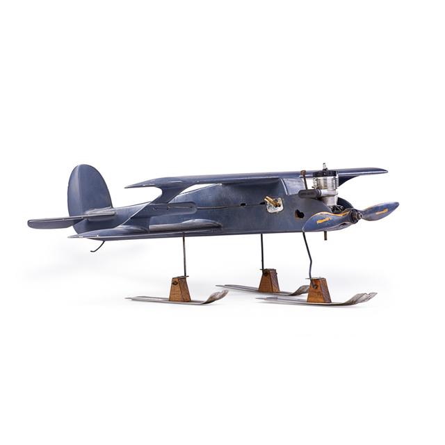 'Model Airplane On Skis, USA', mid-20th C., Rago/Wright