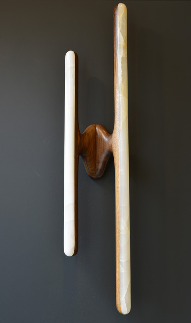 , 'Hand Sculpted Black Walnut and Onyx Sconce,' 2014, Todd Merrill Studio