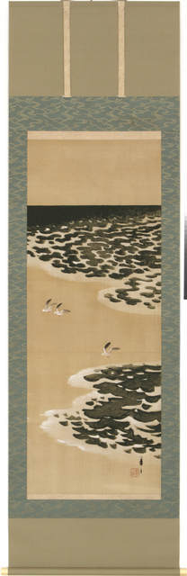 Tsuji Kakō, 'Hanging Scroll, Seagulls by the Ocean Shore (T-3589)', Taisho, Showa era, 1920s, Erik Thomsen